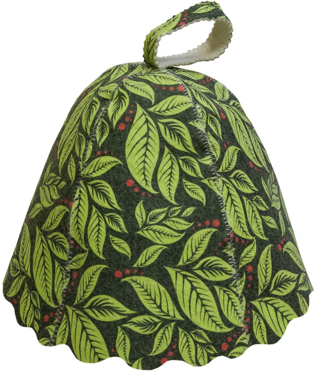 Шапка для бани и сауны Банные штучки Листья41139войлок 100%