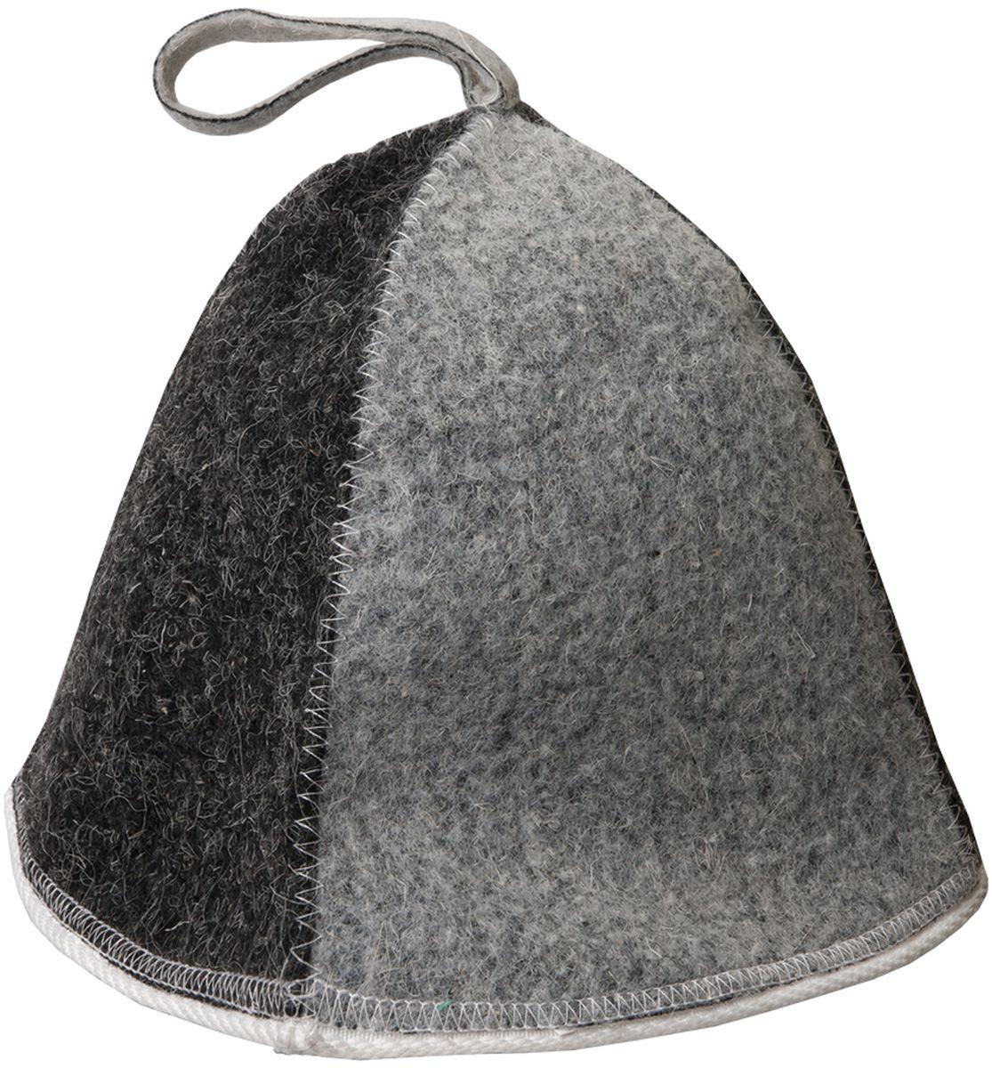 Шапка для бани и сауны Hot Pot Комби, цвет: серый41160войлок 87%