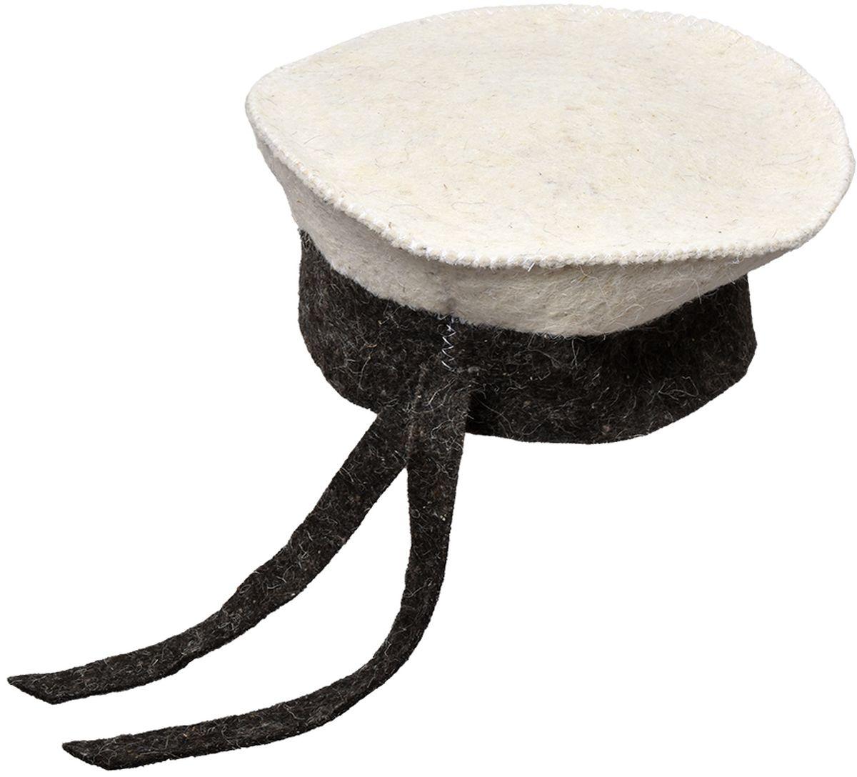 Шапка для бани и сауны Нot Pot Бескозырка Комби41206войлок 100%
