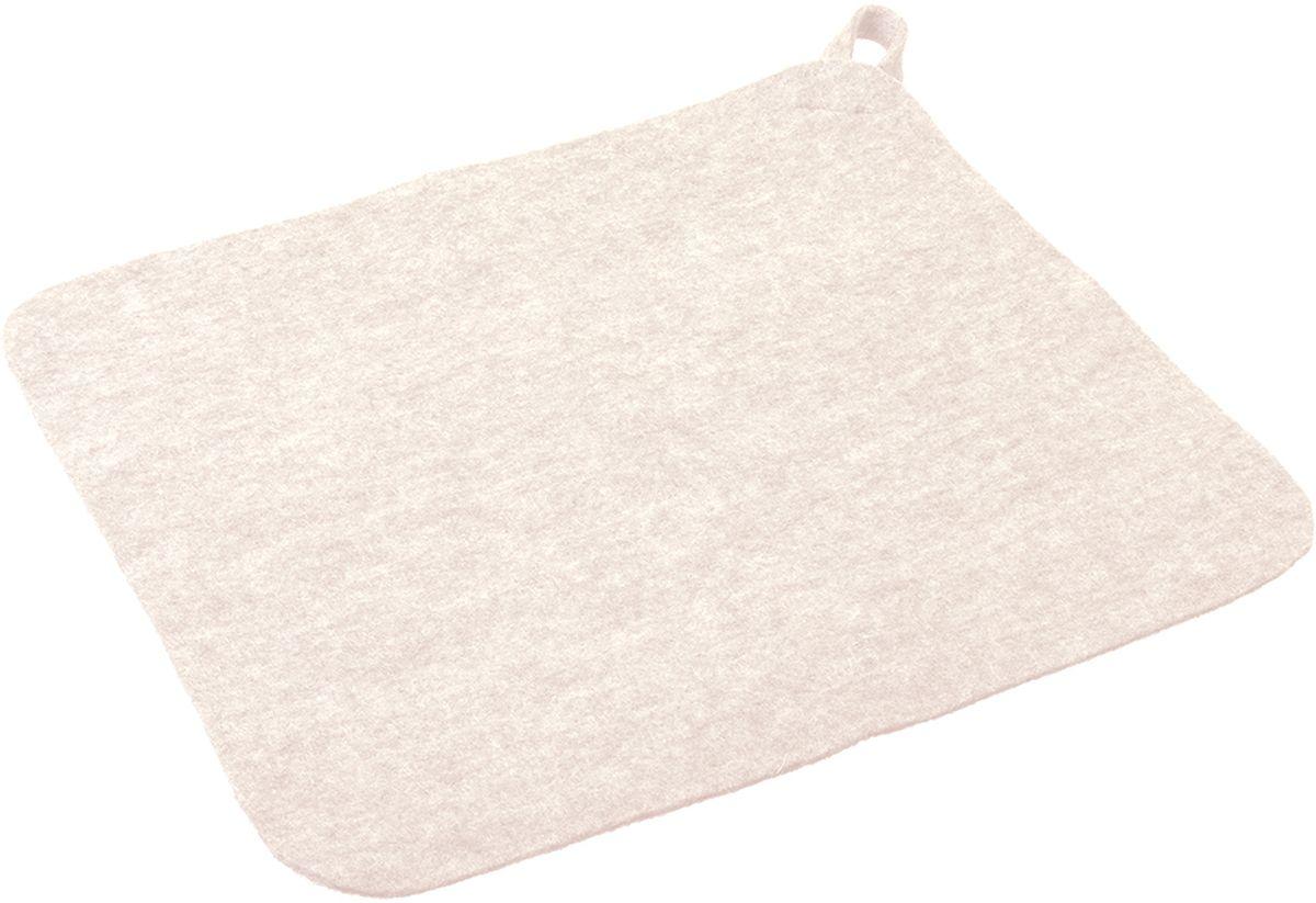 Коврик для бани и сауны Нot Pot, цвет: белый41216