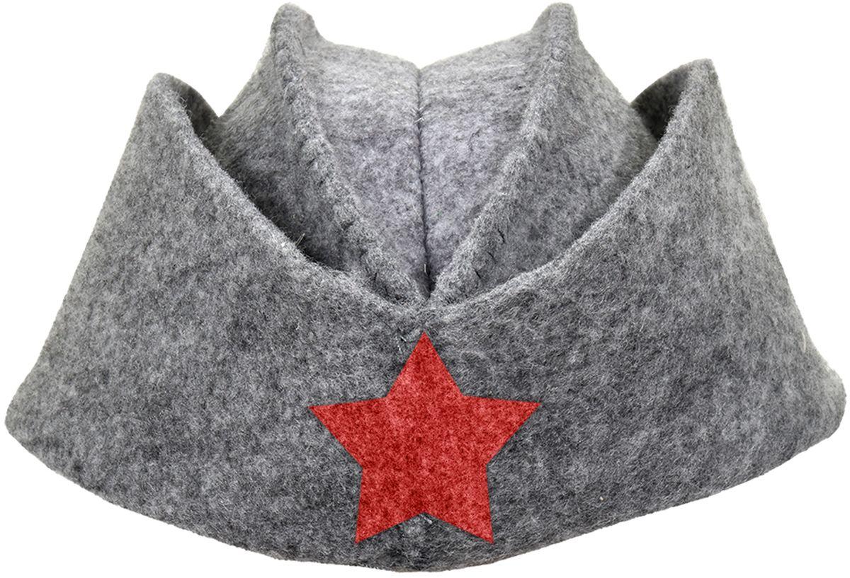 Шапка для бани и сауны Нot Pot Пилотка со звездой531-401Шапка для бани и сауны Hot Pot — это необходимый аксессуар при посещении парной. Такая шапка защитит от головокружения и перегрева головы, а также предотвратит ломкость и сухость волос. Изделие замечательно впитывает влагу, хорошо сидит на голове, обеспечивает комфорт и удовольствие от отдыха в парилке. Незаменима в традиционной русской бане, также используется в финских саунах, где температура сухого воздуха может достигать 100°С. Шапка выполнена в оригинальном дизайне.