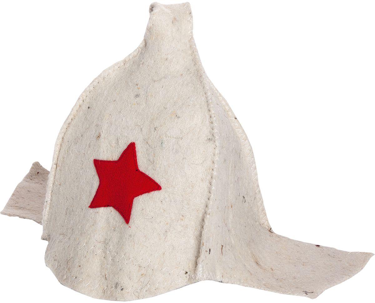 Шапка для бани и сауны Нot Pot Буденовка, цвет: белый42014войлок 100%