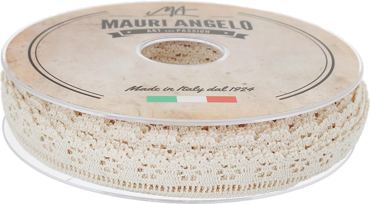 Лента кружевная Mauri Angelo, цвет: бежевый, 1,7 см х 20 мKOC_GIR288LEDBALL_RДекоративная кружевная лента Mauri Angelo - текстильное изделие без тканой основы, в котором ажурный орнамент и изображения образуются в результате переплетения нитей. Кружево применяется для отделки одежды, белья в виде окаймления или вставок, а также в оформлении интерьера, декоративных панно, скатертей, тюлей, покрывал. Главные особенности кружева - воздушность, тонкость, эластичность, узорность.Декоративная кружевная лента Mauri Angelo станет незаменимым элементом в создании рукотворного шедевра. Ширина: 1,7 см.Длина: 20 м.