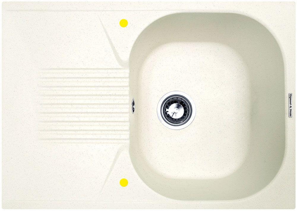 Мойка кухонная Zigmund & Shtain Klassisch 695, врезная, 1 чаша, крыло, цвет: каменная сольklassisch695Zigmund & Shtain KLASSISCH 695, кухонная мойка, иск.гранит, 1чаша-крыло, форма-квадрат, глубина -21 см, ЦВЕТ каменная соль