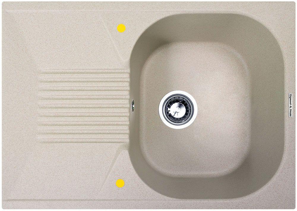 Мойка кухонная Zigmund & Shtain Klassisch 695, врезная, 1 чаша, крыло, цвет: осенняя траваklassisch695Zigmund & Shtain KLASSISCH 695, кухонная мойка, иск.гранит, 1чаша-крыло, форма-квадрат, глубина -21 см, ЦВЕТ осенняя трава