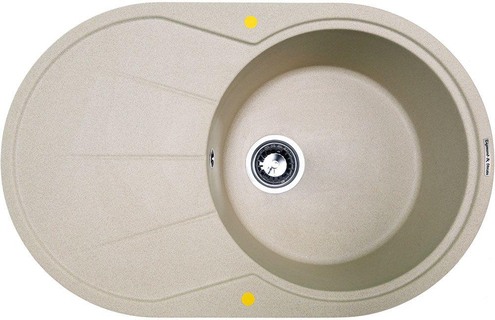 Мойка кухонная Zigmund & Shtain Kreis Ov 770 B, врезная, 1 чаша, крыло, цвет: осенняя траваkreisov770bZigmund & Shtain KREIS OV 770 B, кухонная мойка, иск.гранит, 1чаша-крыло, форма овал, глубина-21, Цвет осенняя трава