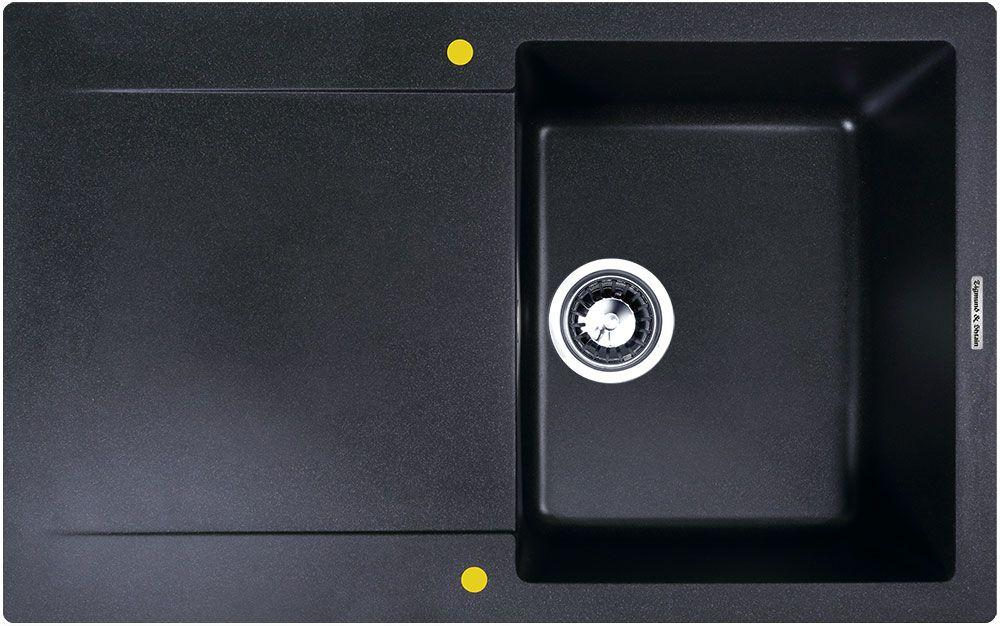 Мойка кухонная Zigmund & Shtain Rechteck 775, врезная, 1 чаша, крыло, цвет: темная скалаBA900Zigmund & Shtain RECHTECK 775, кухонная мойка, иск.гранит, 1чаша-крыло, форма прямоугольная, глубина-21, Цвет темная скала