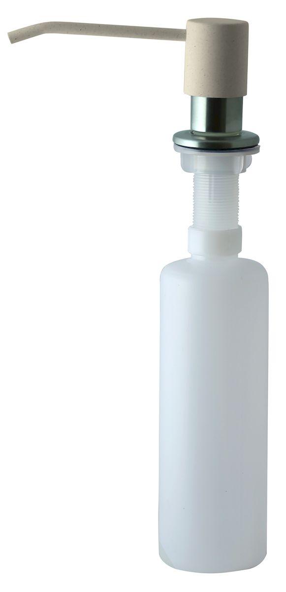Дозатор для моющего средства Zigmund & Shtain, встраиваемый, цвет: каменная соль, 300 млa002zs_каменная сольДиспенсер для моющего средства позволяет с помощью лёгкого нажатия получать необходимое количество жидкости для мытья посуды. Дозатор освобождает пространство столешницы вокруг мойки от бутылочек с моющим средством и делает кухню удобной и красивой. Встраиваемый диспенсер устанавливается в столешницу или кухонную мойку. Корпус емкости под моющее средство и трубка подачи моющего средства выполнены из пластика, что исключает возможность коррозии и разъедания любым моющим средством, применяемым в быту. Диспенсер легко заполняется моющим средством сверху. Объем: 300 мл. Угол поворота: 360°. Диаметр врезного отверстия: 35 мм. Данный диспенсер подходит к кухонной мойке Zigmund & Shtain цвета каменная соль.
