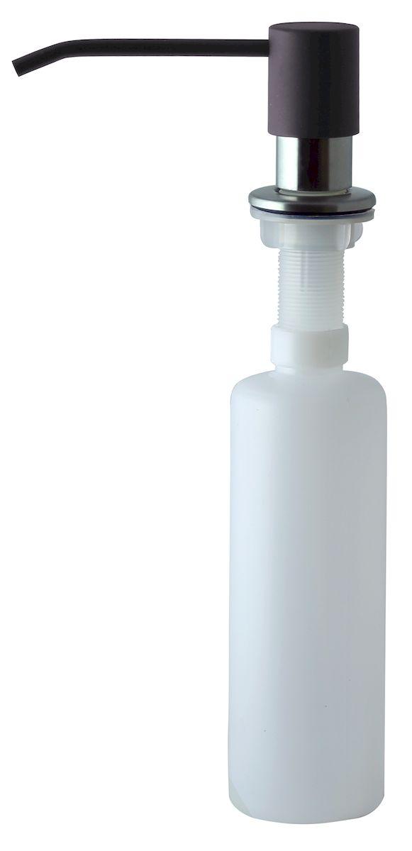 Дозатор для моющего средства Zigmund & Shtain, встраиваемый, цвет: швейцарский шоколад, 300 мл68/5/3Диспенсер для моющего средства позволяет с помощью лёгкого нажатия получать необходимое количество жидкости для мытья посуды. Дозатор освобождает пространство столешницы вокруг мойки от бутылочек с моющим средством и делает кухню удобной и красивой. Встраиваемый диспенсер устанавливается в столешницу или кухонную мойку.Корпус емкости под моющее средство и трубка подачи моющего средства выполнены из пластика, что исключает возможность коррозии и разъедания любым моющим средством, применяемым в быту. Диспенсер легко заполняется моющим средством сверху.Объем: 300 мл.Угол поворота: 360°.Диаметр врезного отверстия: 35 мм. Данный диспенсер подходит к кухонной мойке Zigmund & Shtain цвета швейцарский шоколад.