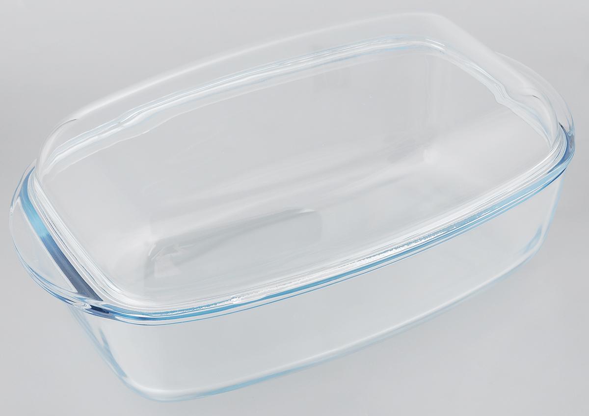 Утятница Pyrex Essentials с крышкой, прямоугольная, 7 л466A000/W243Утятница Pyrex Essentials выполнена из жаропрочного боросиликатного стекла. Изделие не вступает в реакцию с готовящейся пищей, а потому не выделяет никаких вредных веществ, не подвергается воздействию кислот и солей. Стеклянная посуда очень удобна для приготовления и подачи самых разнообразных блюд. Стекло выдерживает резкий перепад температур от -40° C до +300°C. Благодаря прозрачности стекла, за едой можно наблюдать при ее приготовлении, еду можно видеть при подаче, хранении. Используя эту форму, вы можете, как приготовить пищу, так и изящно подать ее к столу, не меняя посуды. Крышка выполнена из стекла и может быть использована также отдельно для приготовления и подачи различных блюд. Посуда подходит для использования в духовке, микроволновой печи и хранения пищи в холодильнике и морозильной камере. Можно мыть в посудомоечной машине. Внешний размер утятницы (с учетом ручек): 37,4 х 22 см. Внутренний размер утятницы: 32 х...