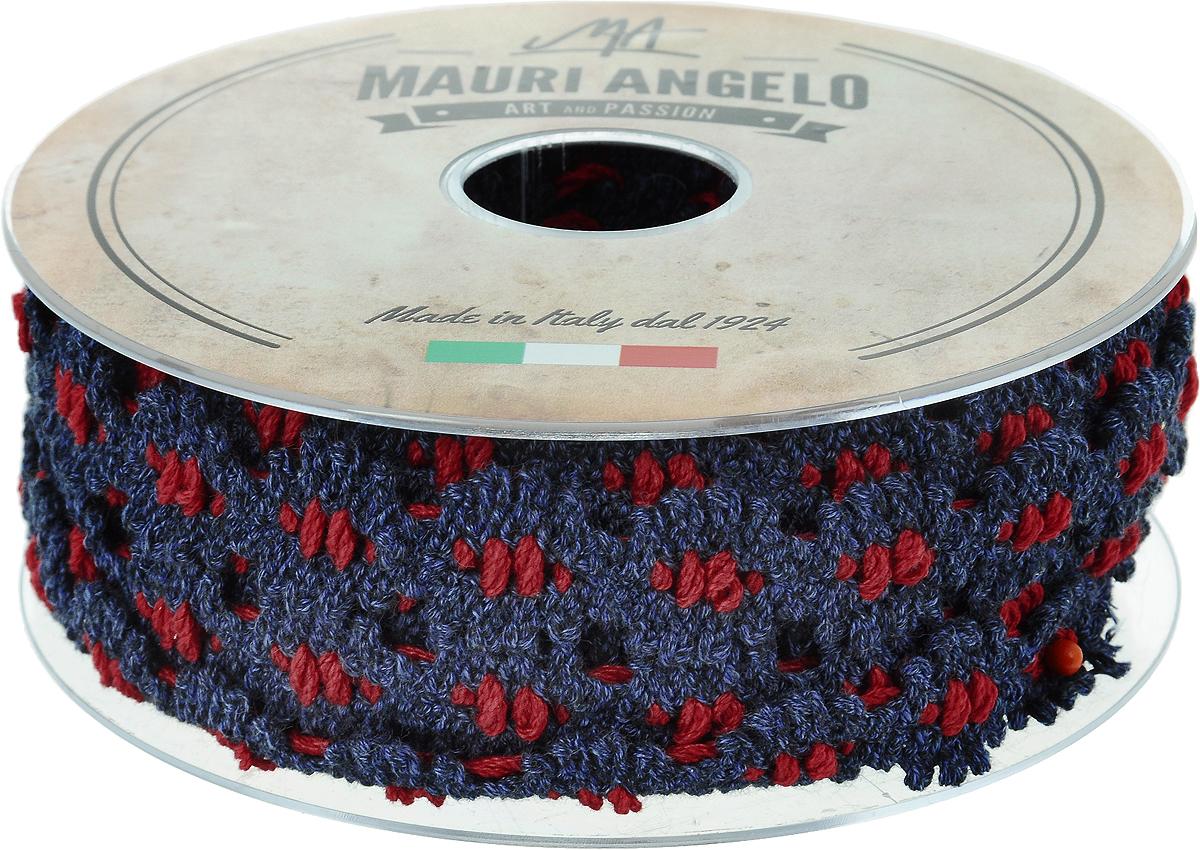 Лента кружевная Mauri Angelo, цвет: синий, красный, 1,7 см х 10 м. MR7211/DE60/211KOC_GIR288LEDBALL_RДекоративная кружевная лента Mauri Angelo - текстильное изделие без тканой основы, в котором ажурный орнамент и изображения образуются в результате переплетения нитей. Кружево применяется для отделки одежды, белья в виде окаймления или вставок, а также в оформлении интерьера, декоративных панно, скатертей, тюлей, покрывал. Главные особенности кружева - воздушность, тонкость, эластичность, узорность.Декоративная кружевная лента Mauri Angelo станет незаменимым элементом в создании рукотворного шедевра. Ширина: 1,7 см.Длина: 10 м.