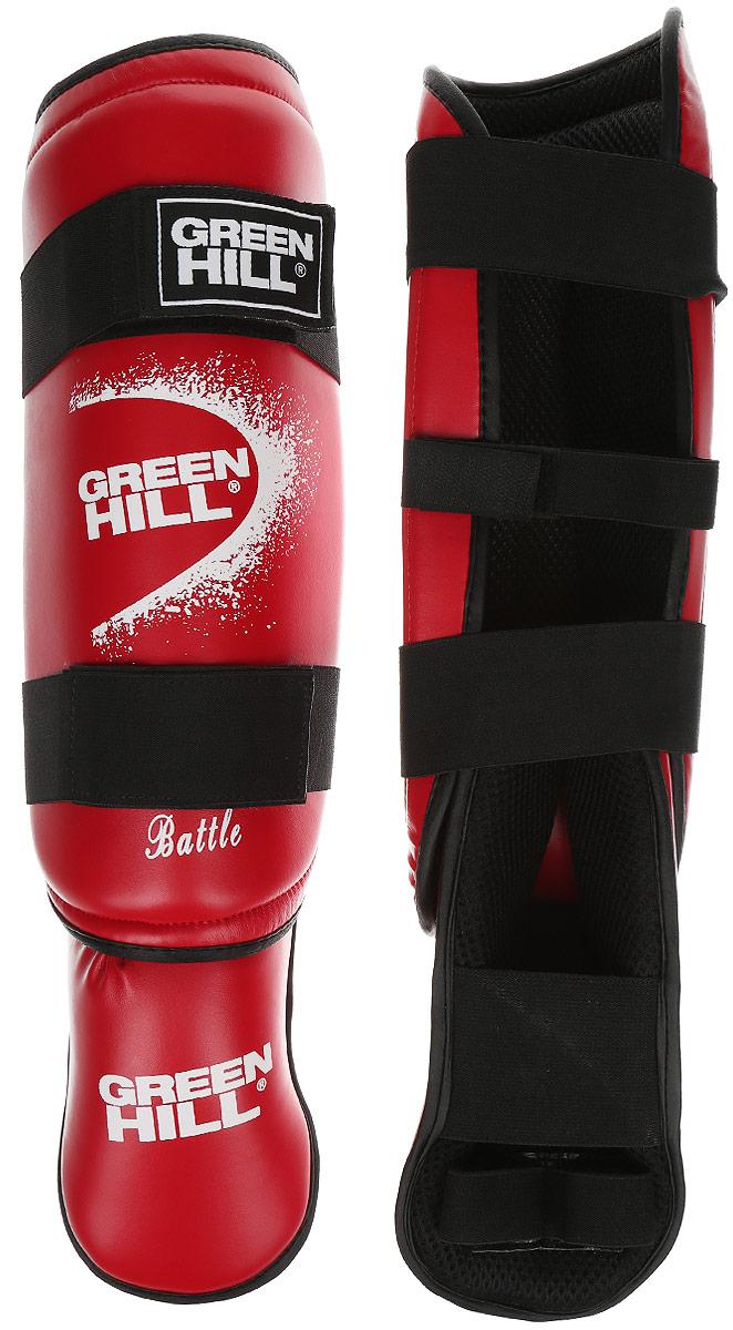 Защита голени и стопы Green Hill Battle, цвет: красный, белый. Размер M. SIB-0014SIB-0014Защита голени и стопы Green Hill Battle с наполнителем, выполненным из вспененного полимера, необходима при занятиях спортом для защиты пальцев и суставов от вывихов, ушибов и прочих повреждений. Накладки выполнены из высококачественной искусственной кожи. Подкладка изготовлена из хлопка, внутренняя сторона выполнена в виде сетки. Они надежно фиксируются за счет ленты и липучек. При желании защиту голени можно отцепить от защиты стопы. Длина голени: 36 см. Ширина голени: 12,5 см. Длина стопы: 24 см. Ширина стопы: 10 см.