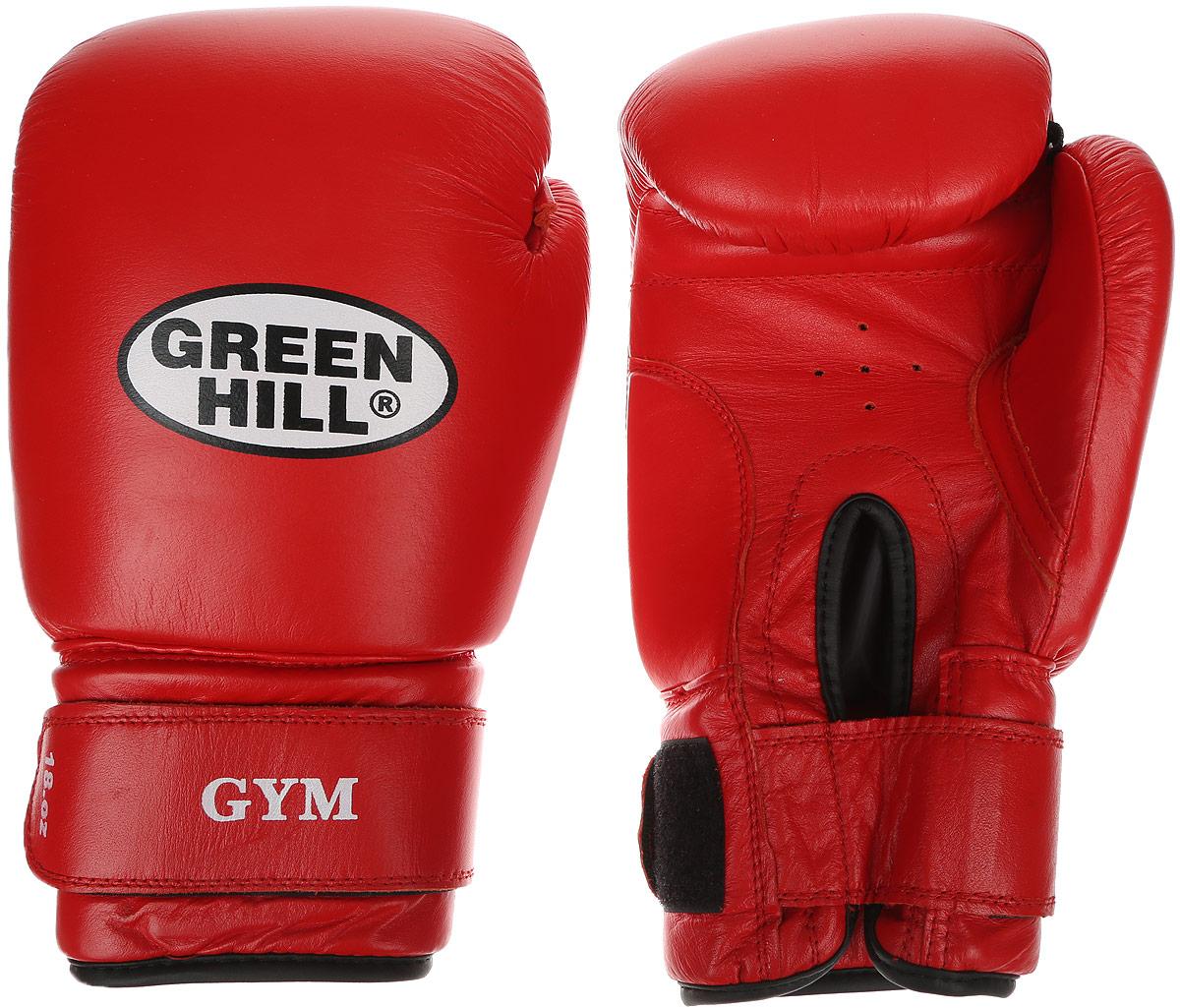 """Перчатки боксерские Green Hill """"Gym"""", цвет: красный, белый. Вес 16 унций BGG-2018"""