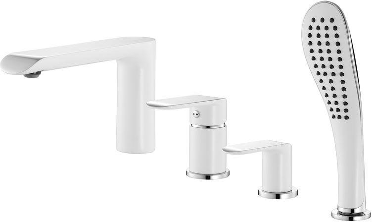 Смеситель для ванны Iddis Calipso, на 4 отверстия, цвет: белый, хром. CALSB42i07CALSB42i07Смеситель для ванны на 4 отверстия IDDIS изготовлен из высококачественной первичной латуни, прочной, безопасной и стойкой к коррозии. Инновационные технологии литья и обработки латуни, а также увеличенная толщина стенок смесителя обеспечивают его стойкость к перепадам давления и температур. Увеличенное никель-хромовое покрытие полностью соответствует европейским стандартам качества, обеспечивает его стойкость и зеркальный блеск в течение всего срока службы изделия. Благодаря гладкой внутренней поверхности смесителя, рассекателям в водозапорных механизмах и аэратору он имеет минимальный уровень шума. Смеситель оборудован керамическим дивертором, чей сверхнадежный механизм обеспечивает плавное и мягкое переключение с излива на душ, а также непревзойденную надежность при любом давлении воды. Смеситель оборудован картриджем Kerox со специальной встроенной системой шумопоглощения, который обеспечивает долгий срок службы смесителя. Съемный пластиковый аэратор Neoperl...