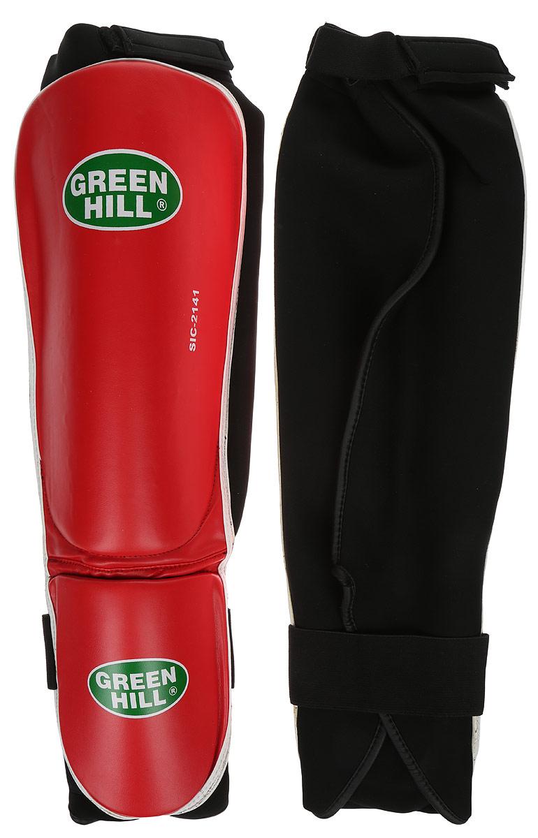 Защита голени и стопы Green Hill Cover, цвет: красный, белый. Размер S. SIС-2141SIС-2141Защита голени и стопы Green Hill Cover с наполнителем, выполненным из полипропилена, необходима при занятиях спортом для защиты пальцев и суставов от вывихов, ушибов и прочих повреждений. Накладки выполнены из высококачественной искусственной кожи. Они прочно фиксируются за счет эластичной ленты и липучек. Длина голени: 27 см. Ширина голени: 15 см. Длина стопы: 14 см. Ширина стопы: 11,5 см.