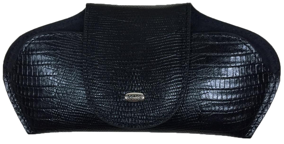 Футляр для очков Petek 1855, цвет: черный. 632.041.01632.041.01 BlackФутляр для очков (очечник) из натуральной мягкой кожи. Внутренняя поверхность сделана из бархатистой ткани.