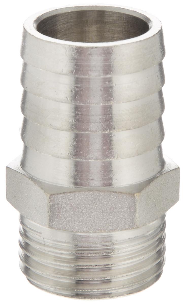 Переходник U-Tec, для резинового шланга, наружная резьба 1/2 х 20 ммUTR 182.N 220/PПереходник U-Tec предназначен для соединения резьбовых соединений с резиновым шлангом. Изделие изготовлено из прочной и долговечной латуни. Никелированное покрытие на внешнем корпусе защищает изделие от окисления. Продукция под торговой маркой U-Tec прошла все необходимые испытания и по праву может считаться надежной. Размер ключа: 21 мм.