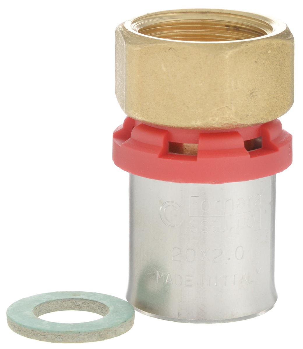 Соединитель Fornara под пресс, п - нг, 20 x 1/230635Соединитель под пресс Fornara представляет собой элемент трубопровода, обеспечивающий соединение труб из разных материалов с компонентами системы. Изделие имеет переход на наружную резьбу, прочный, долговечный корпус из никелированной горячепрессованной латуни. Благодаря специальным насечкам уплотнительный материал соединителя хорошо удерживается при монтаже трубопроводной системы.