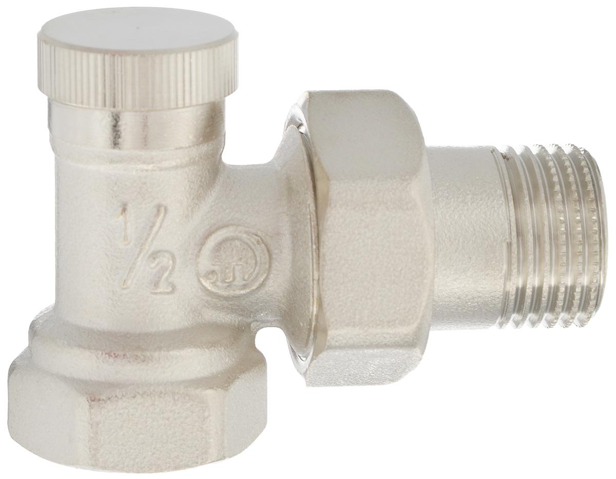 Клапан радиаторный Fornara отсекающий, боковое подключение, 1/214437Клапан Fornara - это ручной радиаторный клапан, устанавливаемый на подаче радиаторов или теплообменников в системах водяного отопления. Предназначен для ручной регулировки количества поступающего в отопительный прибор теплоносителя. Клапан позволяет полностью перекрывать поток. Подключение клапана к отопительному прибору производится с помощью закладной детали и полусгона.