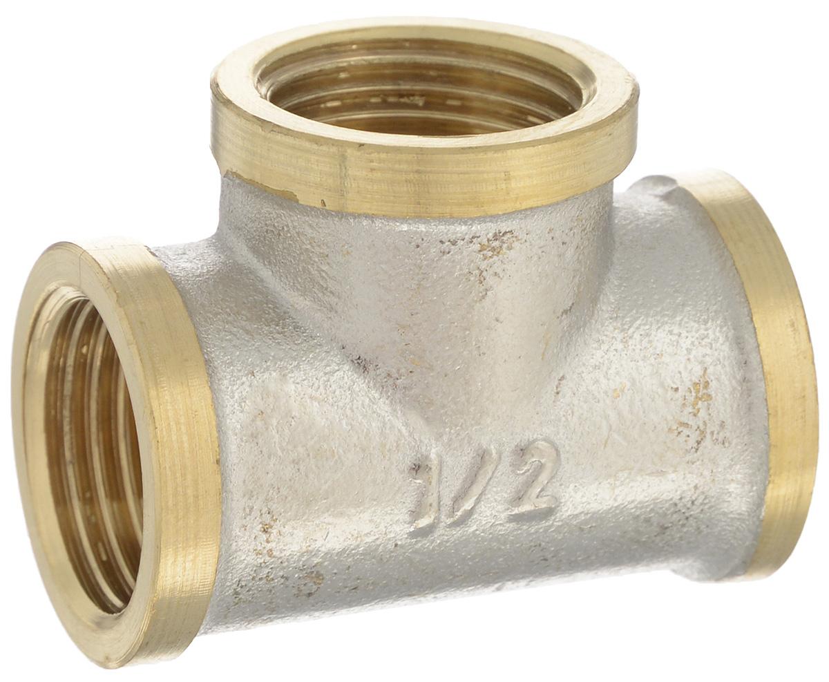 Тройник U-tec с фаской, 1/2UTR 130.N 02/PТройник U-tec - это многофункциональный переходник, применяемый на медных, стальных и латунных трубопроводах. Он предназначен для соединения труб в системах отопления, водоснабжения и других системах с номинальным давлением PN 10. Тройник выполнен из сверхпрочной латуни с никелированным покрытием. Материал обладает отличной устойчивостью к коррозии и механическим повреждениям. Преимущества: