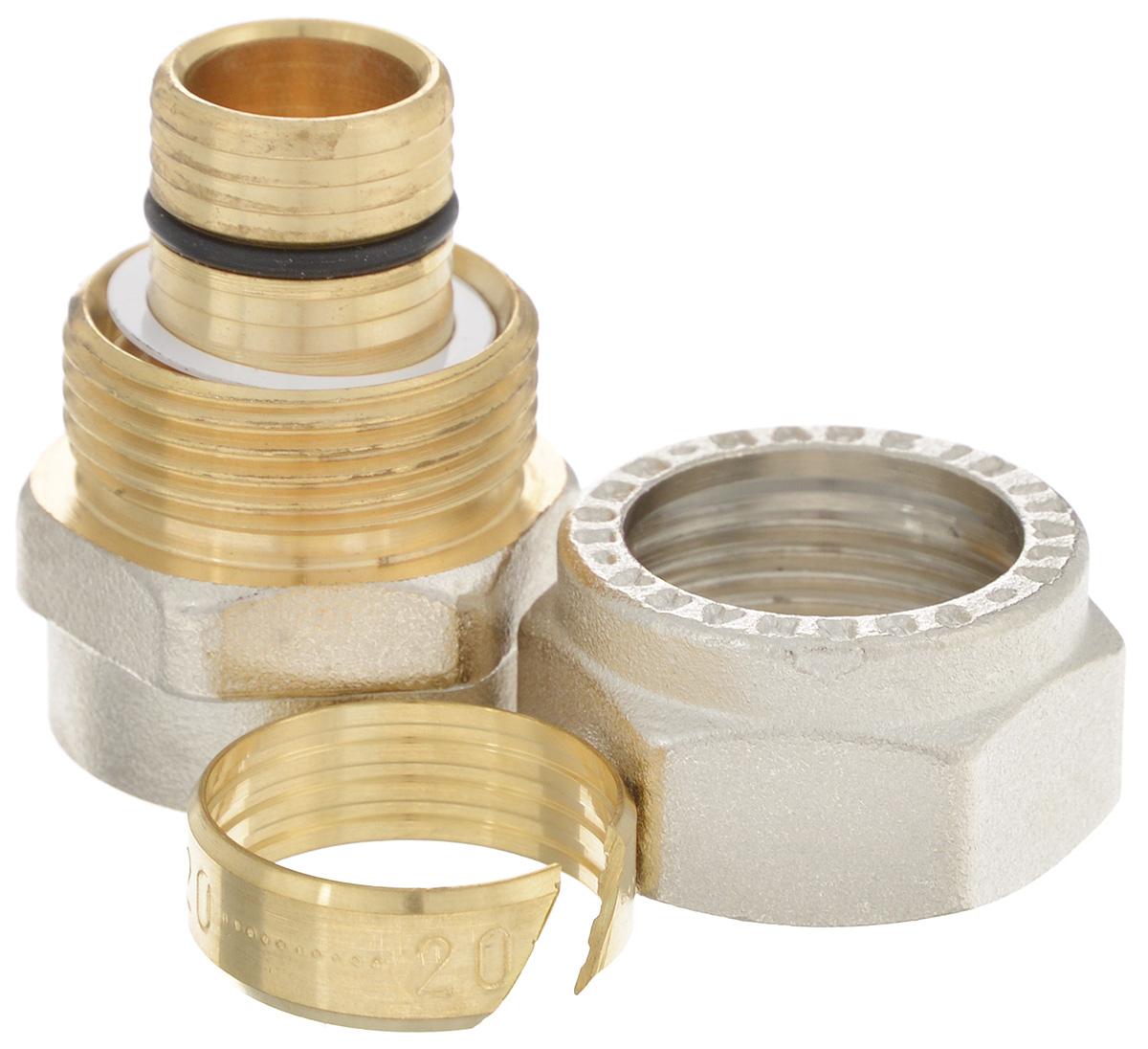 Соединитель Fornara, цанга-гайка, 20 x 1/2A100D-20IAСоединитель Fornara предназначен для соединения металлопластиковых труб с помощью разводного ключа. Соединение получается разъемным, что позволяет при необходимости заменять уплотнительные кольца, а также производить обслуживание участка трубопровода.