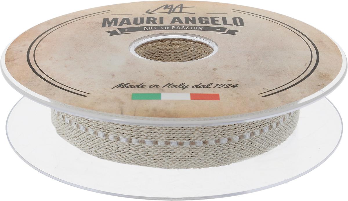 Лента декоративная Mauri Angelo, цвет: бежевый, белый, 2 см х 10 м09840-20.000.00Декоративная лента Mauri Angelo - текстильное изделие, которое применяется для отделки одежды, а также в оформлении интерьера, декоративных панно, скатертей, тюлей, покрывал. Декоративная лента Mauri Angelo станет незаменимым элементом в создании рукотворного шедевра. Ширина: 2 см.Длина: 10 м.