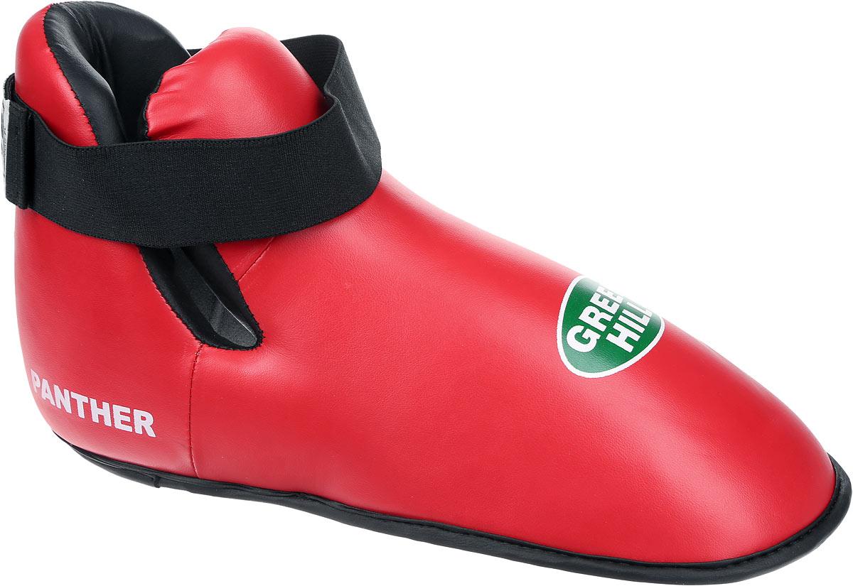 Футы Green Hill Panther, цвет: красный, черный. Размер XL. KBSP-3076QNT1133Футы Green Hill Panther применяются для занятий кикбоксингом. Выполнены из высококачественной искусственной кожи, наполнитель - вспененный полимер. Резинки на липучке в задней части футов обеспечивают лучшую фиксацию ноги.Длина стопы: 32,5 см. Ширина: 13,5 см.Размер ноги должен быть меньше на 1-1,5 см.