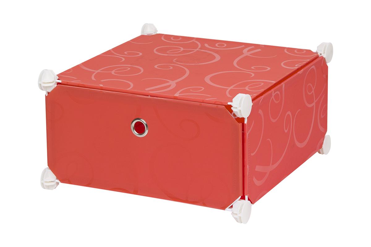 Полка складная EL Casa, для модульной системы хранения, цвет: красный, 37 х 39 х 21 см370640Полка складная EL Casa представляет собой сборный металлический каркас, на который натянуты панели из полипропилена. Дверца снабжена магнитом, а ручка выполнена в виде кольца. Модульная полка предназначена для хранения одежды, игрушек и мелочей. Она легкая, вместительная, быстро собирается, не занимает много места, комбинируется с другими полками модульных систем El Casa. Компактная полка станет незаменимой дома или на даче, однотонная расцветка позволит ей вписаться в любой интерьер.