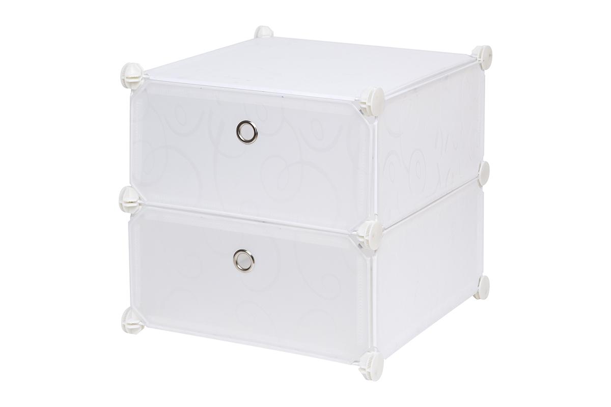 Полка складная EL Casa, для модульной системы хранения, цвет: белый, 37 х 39 х 39 см. 370641370641Полка складная EL Casa представляет собой сборный металлический каркас, на который натянуты панели из полипропилена. Дверца снабжена магнитом, а ручка выполнена в виде кольца. Изделие имеет 2 отделения. Модульная полка предназначена для хранения одежды, игрушек и мелочей. Она легкая, вместительная, быстро собирается, не занимает много места, комбинируется с другими полками модульных систем El Casa. Компактная полка станет незаменимой дома или на даче, однотонная расцветка позволит ей вписаться в любой интерьер.