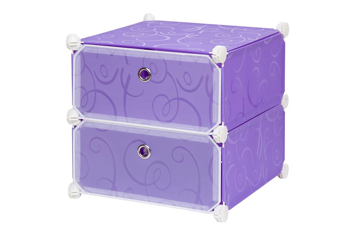 Полка складная EL Casa, для модульной системы хранения, цвет: фиолетовый, 37 х 39 х 39 см. 370642370642Полка складная EL Casa представляет собой сборный металлический каркас, на который натянуты панели из полипропилена. Дверцы снабжены магнитом, а ручка выполнена в виде кольца. Изделие имеет 2 отделения. Модульная полка предназначена для хранения одежды, игрушек и мелочей. Она легкая, вместительная, быстро собирается, не занимает много места, комбинируется с другими полками модульных систем El Casa. Компактная полка станет незаменимой дома или на даче, однотонная расцветка позволит ей вписаться в любой интерьер.
