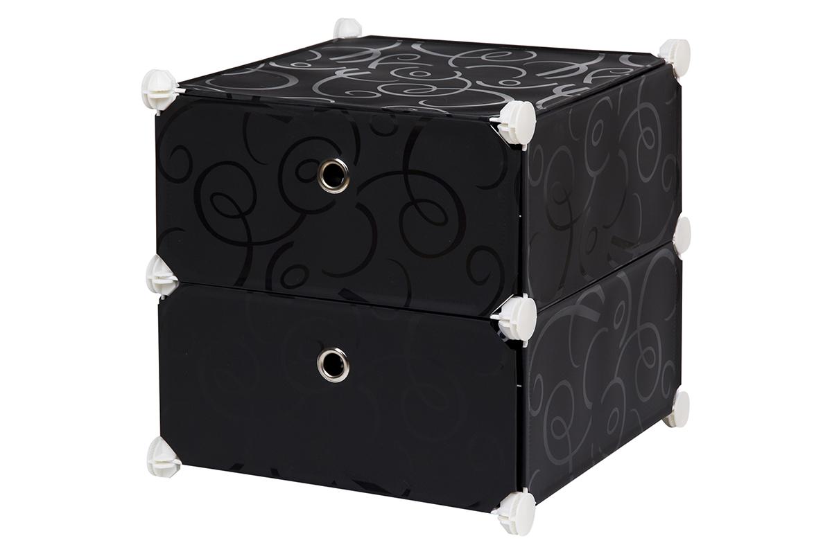 Полка складная EL Casa, для модульной системы хранения, цвет: черный, 37 х 39 х 39 см. 370643370643Полка складная EL Casa представляет собой сборный металлический каркас, на который натянуты панели из полипропилена. Дверцы снабжены магнитом, а ручка выполнена в виде кольца. Изделие имеет 2 отделения. Модульная полка предназначена для хранения одежды, игрушек и мелочей. Она легкая, вместительная, быстро собирается, не занимает много места, комбинируется с другими полками модульных систем El Casa. Компактная полка станет незаменимой дома или на даче, однотонная расцветка позволит ей вписаться в любой интерьер.