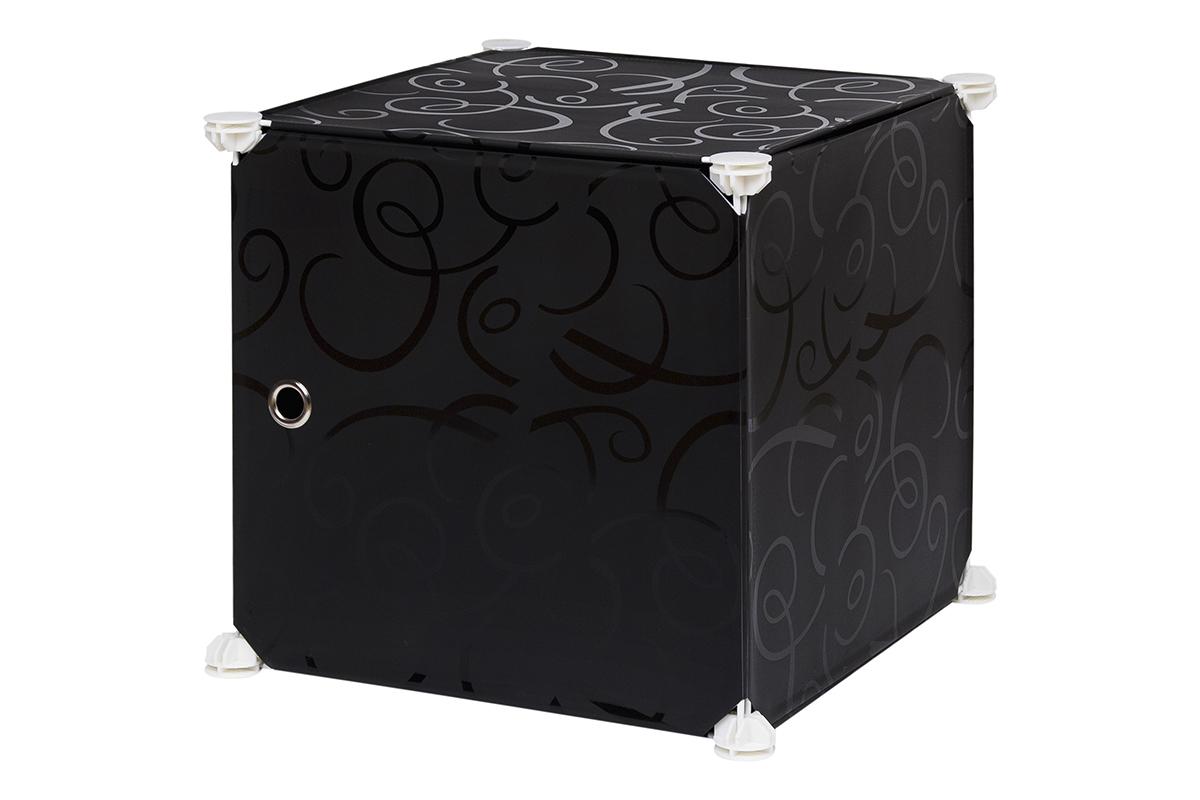 Полка складная EL Casa, для модульной системы хранения, цвет: черный, 37 х 39 х 39 см. 370671370671Складная модульная полка EL Casa представляет собой сборный металлический каркас, на который натянуты панели из полипропилена. Дверца снабжена магнитом, ручка выполнена в виде металлического кольца. Модульная полка предназначена для хранения одежды, игрушек и мелочей. Она легкая, вместительная, быстро собирается, не занимает много места, комбинируется с другими полками модульных систем El Casa. Компактная полка станет незаменимой дома или на даче, однотонная расцветка позволит ей вписаться в любой интерьер.