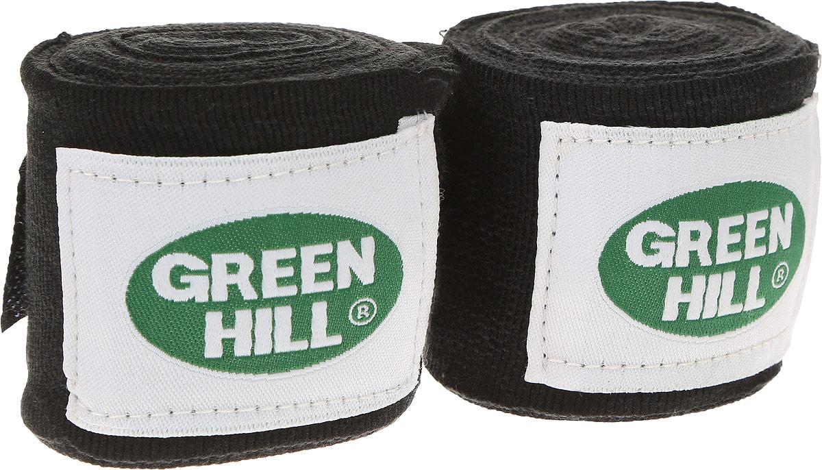 """Бинт боксерский """"Green Hill"""", цвет: черный, белый, 3,5 м, 2 шт ВР-6232-35"""