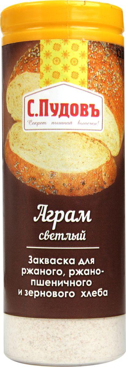 Пудовъ аграм светлый, 60 г4607012294869Сухая закваска Аграм светлый используется при выпечке ржаного, ржано-пшеничного и зернового хлеба. Она предназначена для повышения эластичности мякиша, улучшения вкуса и аромата готовых изделий. Рекомендуемая дозировка: 1-2% к массе муки.