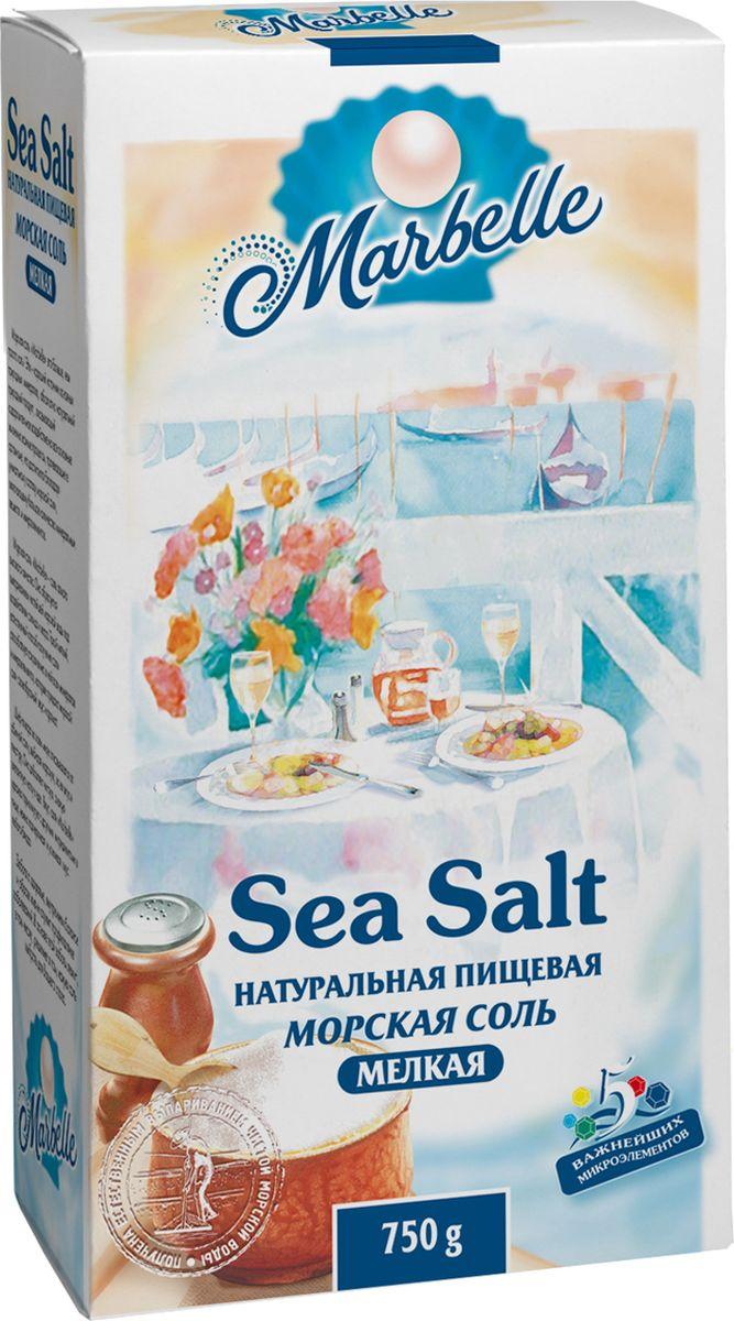 Marbellе морская соль мелкая, 750 г4607012291394Натуральная морская соль мелкого помола - богатый источник минеральных веществ и полезных микроэлементов, которые оказывают общее оздоровительное воздействие на процессы, протекающие в организме, а также насыщает его важными компонентами.