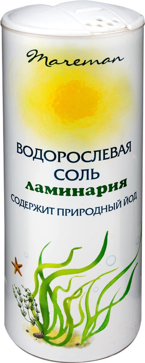 Mareman водорослевая соль ламинария, 150 г4607012295224Водорослевая соль – ламинария или водоросли морские, именуемые также морской капустой, представляют собой 100% натуральный продукт. Водорослевая соль естественным путем восполняет недостаток йода в организме человека, содержит йод в органической форме, является природным источником микроэлементов и витаминов.