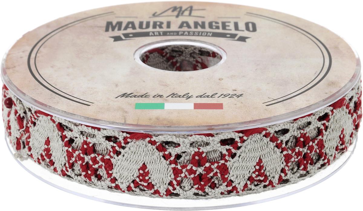 Лента кружевная Mauri Angelo, цвет: серый, красный, 2,7 см х 10 мZ-0307Декоративная кружевная лента Mauri Angelo - текстильное изделие без тканой основы, в котором ажурный орнамент и изображения образуются в результате переплетения нитей. Кружево применяется для отделки одежды, белья в виде окаймления или вставок, а также в оформлении интерьера, декоративных панно, скатертей, тюлей, покрывал. Главные особенности кружева - воздушность, тонкость, эластичность, узорность.Декоративная кружевная лента Mauri Angelo станет незаменимым элементом в создании рукотворного шедевра. Ширина: 2,7 см.Длина: 10 м.