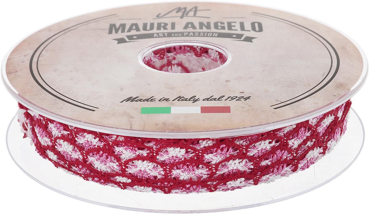 Лента кружевная Mauri Angelo, цвет: красный, розовый, белый, 1,8 см х 20 м. MR8849/MC/4MR8849/MC/4Декоративная кружевная лента Mauri Angelo выполнена из высококачественного хлопка и ацетатного волокна. Кружево применяется для отделки одежды, постельного белья, а также в оформлении интерьера, декоративных панно, скатертей, тюлей, покрывал. Главные особенности кружева - воздушность, тонкость, эластичность, узорность. Такая лента станет незаменимым элементом в создании рукотворного шедевра.