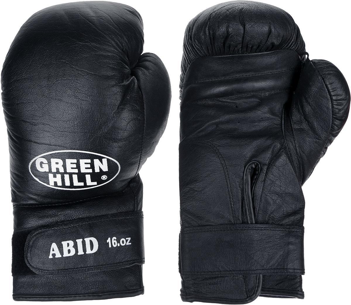 """Перчатки боксерские Green Hill """"Abid"""", цвет: черный, белый. Вес 16 унций BGA-2024"""
