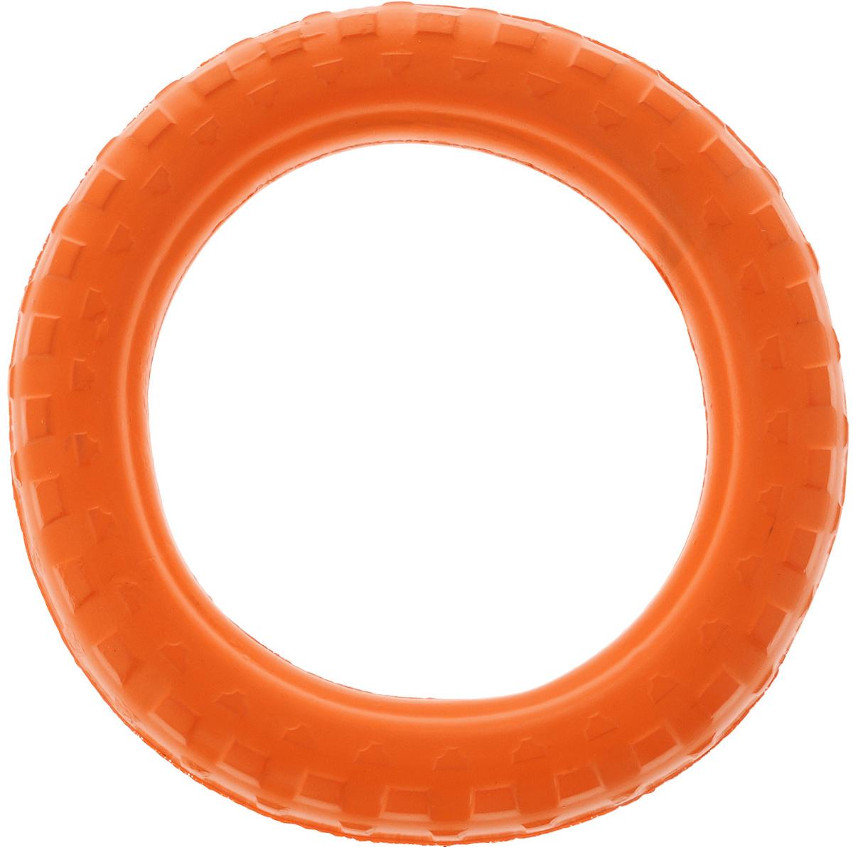 Игрушка для животных Doglike Шинка для колеса. Малая, цвет: оранжевый, диаметр 22 см0120710Doglike Шинка для колеса. Малая - простая и незамысловатая игрушка для собак, которая способна решить многие проблемы здоровья вашего четвероногого любимца. Если ваш пес портит мебель, излишне агрессивен, непослушен или страдает излишним весом то, скорее всего, корень всех бед кроется в недостаточной физической и эмоциональной нагрузке. Порадуйте своего питомца прекрасным и качественным подарком.Диаметр игрушки: 22 см.