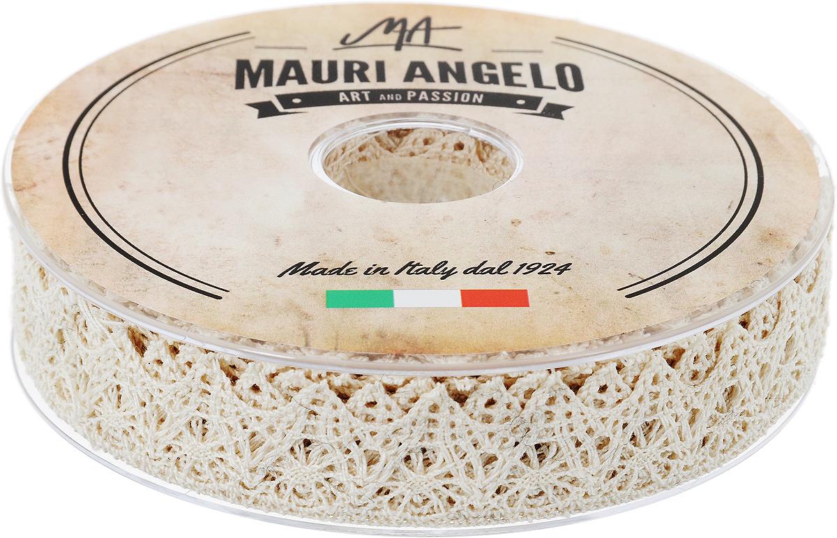 Лента кружевная Mauri Angelo, цвет: бежевый, 2,2 см х 20 мMR3137/E_бежевыйДекоративная кружевная лента Mauri Angelo - текстильное изделие без тканой основы, в котором ажурный орнамент и изображения образуются в результате переплетения нитей. Кружево применяется для отделки одежды, белья в виде окаймления или вставок, а также в оформлении интерьера, декоративных панно, скатертей, тюлей, покрывал. Главные особенности кружева - воздушность, тонкость, эластичность, узорность. Декоративная кружевная лента Mauri Angelo станет незаменимым элементом в создании рукотворного шедевра. Ширина: 2,2 см. Длина: 20 м.