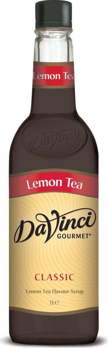 DaVinci Чай с лимоном сироп, 1 л20291515Сироп Da Vinci - безалкогольная добавка в чашку ароматного кофе, которая придется по вкусу любому сладкоежке. Натуральный продукт изготавливается из экологически чистых продуктов с применением современных технологий. Аромат черного чая с бергамотом, насыщенный, яркий вкус чая с лимоном. Сироп Da Vinci обладает уникальной способностью смягчать кислотность кофе и придавать ему особенную сладость