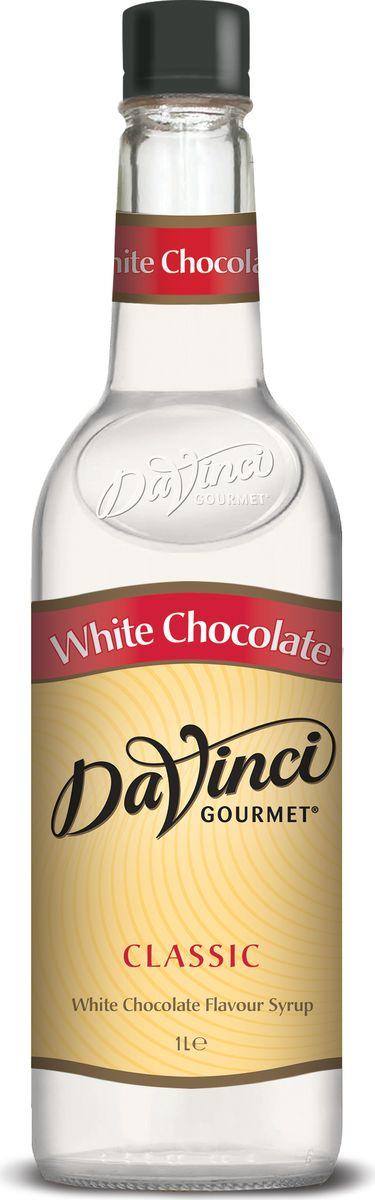 DaVinci Белый шоколад сироп, 1 л20290656Сироп Da Vinci - экзотическое дополнение для ароматного кофе. Лакомство производит британская компания из натурального сырья, поэтому за качество напитка беспокоиться не стоит. Тонкие молочные ноты в аромате, яркая сладость белого шоколада во вкусе. Лакомство пользуется огромной популярностью в ресторанах и кофейнях всего мира. Сироп Да Винчи продается в классических пластиковых бутылках, которые удобно хранить на кухне.