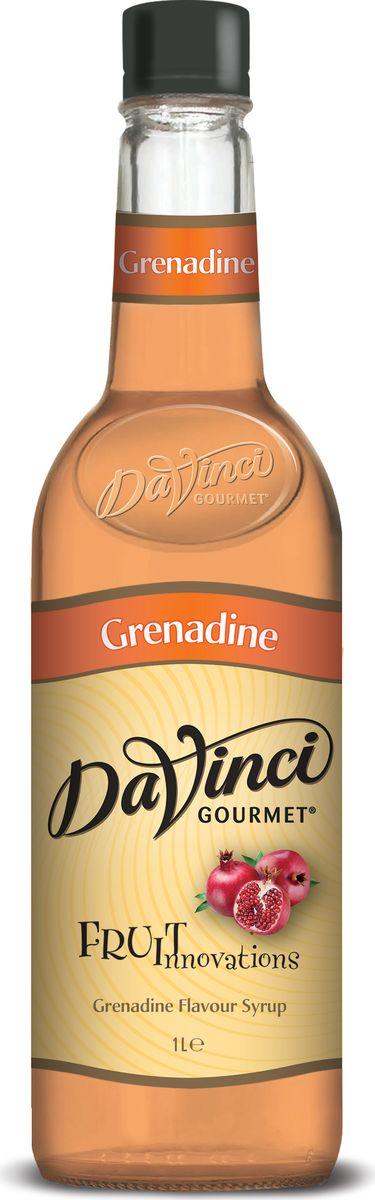 DaVinci Гренадин сироп, 1 л20393759Сироп Da Vinci - британский продукт, который подсластит ваш чудесный кофе и подарит великолепный аромат граната. Лакомство изготовлено из высококачественного сырья, а его производство происходит на самом современном оборудовании. В аромате сок спелого граната, вкус яркий, кислотный, дополненный сладостью сахарного тростника. Лакомство разливается в оригинальные пластиковые бутылки, которые удобно хранить на кухне.