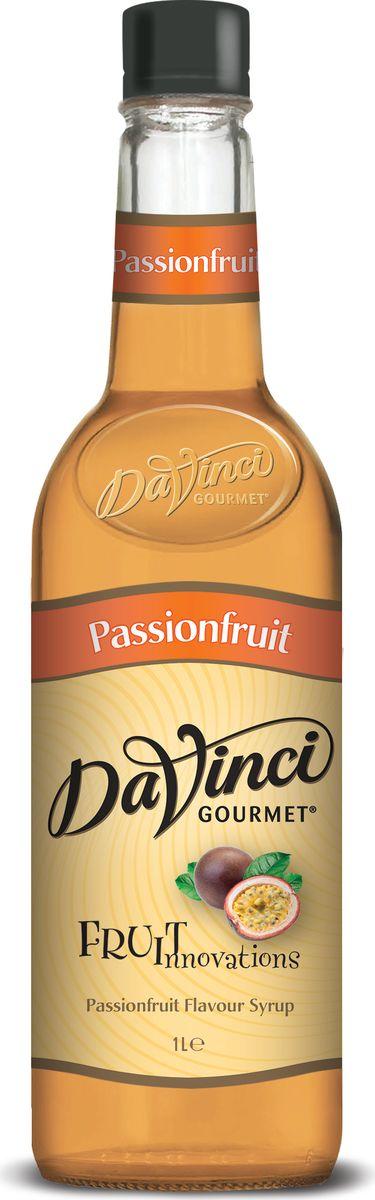 DaVinci Маракуйя сироп, 1 л0120710Сироп Da Vinci Маракуйя - это ароматная добавка, характеризующаяся насыщенным оранжево-красным цветом, тягучей консистенцией и ярким вкусом спелых тропических фруктов. Сироп Да Винчи Маракуйя создан на основе натурального высококачественного сырья: фруктового сока маракуйи, тростникового сахара и очищенной воды. Продукт обладает внушительным сроком годности благодаря высокой концентрации сахара, который выступает в качестве натурального консерванта. Сироп Da Vinci Маракуйя используется весьма экономично, поэтому одной бутылки объемом 1 литр вам хватит для приготовления множества оригинальных напитков и блюд. Сироп Да Винчи Маракуйя великолепен не только для домашнего использования, но и для профессиональной сферы. Так, многие бариста, бармены и кондитеры не представляют свое творчество без этой сладкой добавки. Экзотический аромат сиропа подарит вам незабываемые эмоции и моментально поднимет настроение!