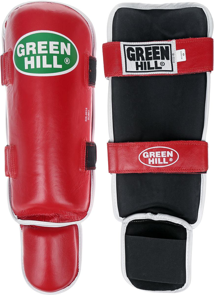 Защита голени и стопы Green Hill Somo, цвет: красный, белый. Размер XL. SIS-0018AP202003Защита голени и стопы Green Hill Somo с защитной подушкой, выполненной из полипропилена, необходима при занятиях спортом для защиты пальцев и суставов от вывихов, ушибов и прочих повреждений. Накладки выполнены из высококачественной натуральной кожи. Они прочно фиксируются за счет лент и липучек.Длина голени: 37 см.Ширина голени: 14 см.Длина стопы: 17 см.Ширина стопы: 11 см.