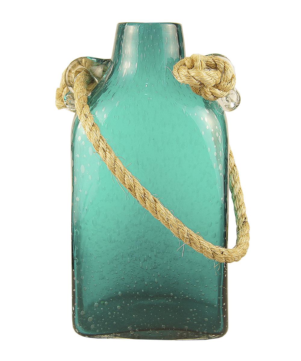 Ваза Этажерка Berber, с ручкой, цвет: бирюзовый, высота 33 смFS-91909Ваза Этажерка Berber выполнена из высококачественного стекла и имеет изысканный внешний вид. Такая ваза станет идеальным украшением интерьера и прекрасным подарком к любому случаю. Изделие оснащено текстильной ручкой. Высота вазы: 33 см.