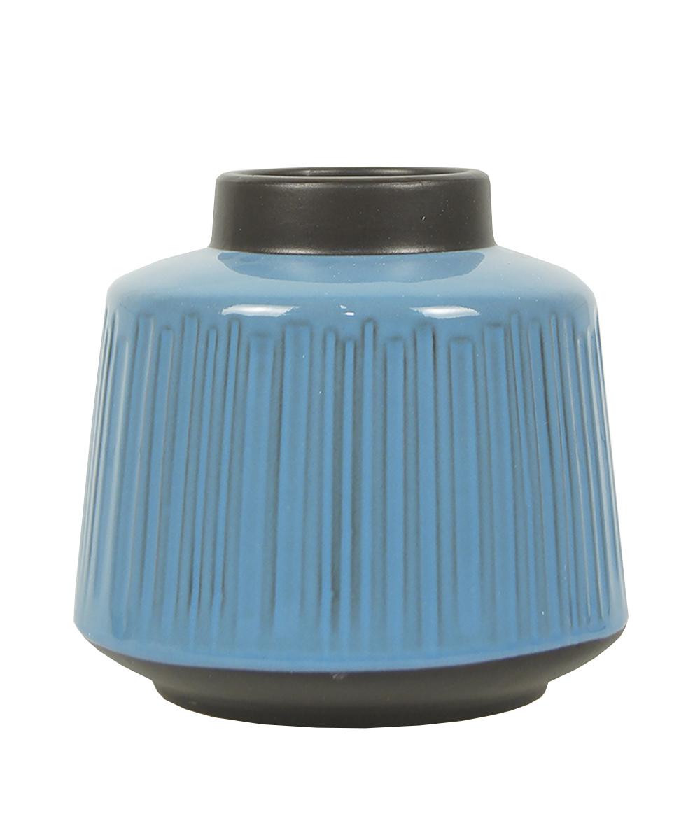 Ваза Этажерка Aquarelle, цвет: голубой, черный, высота 16 см94672Ваза Этажерка Aquarelle выполнена из высококачественной керамики и имеет изысканный внешний вид. Такая ваза станет идеальным украшением интерьера и прекрасным подарком к любому случаю. Высота вазы: 16 см.