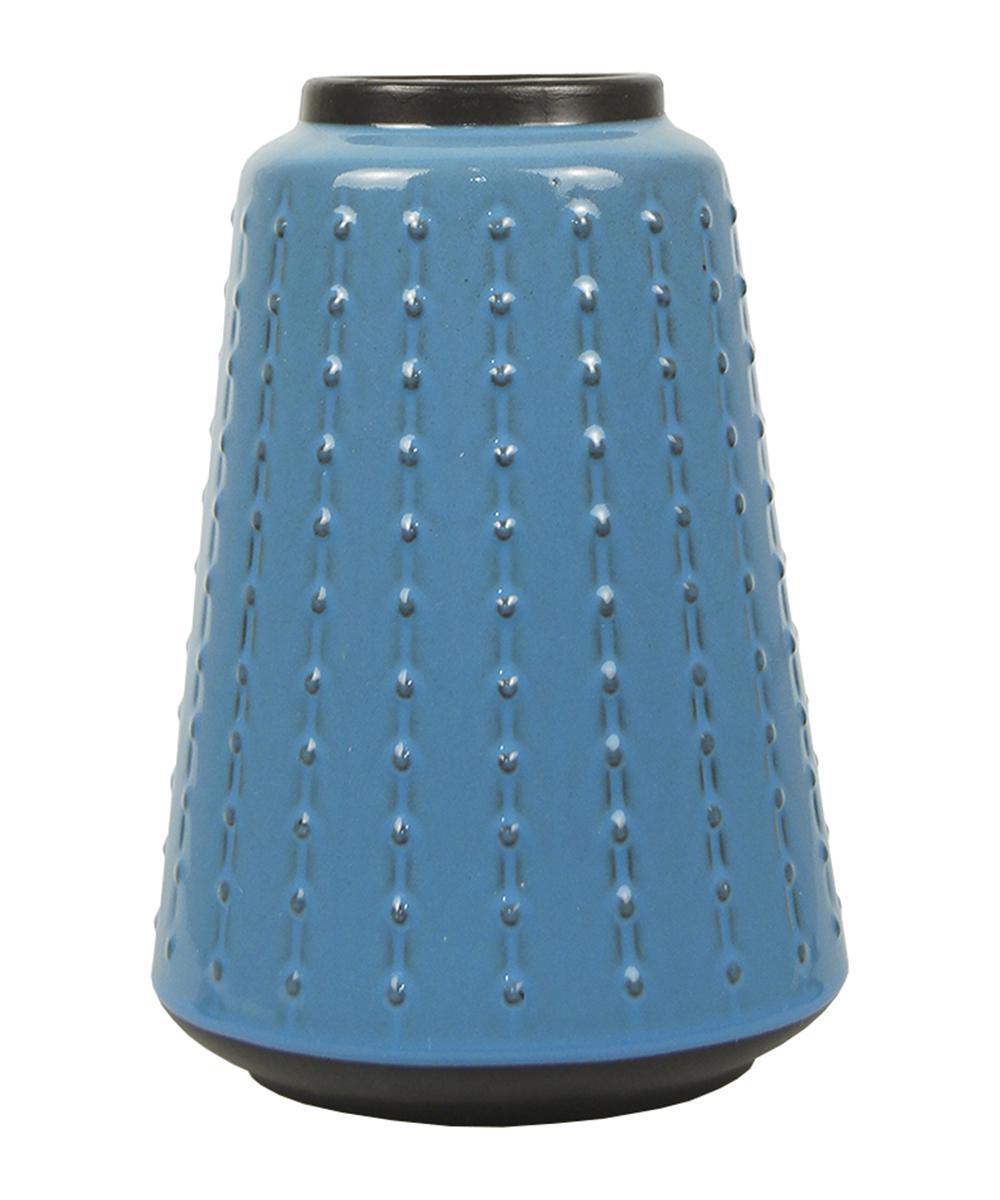 Ваза Этажерка Aquarelle, цвет: голубой, черный, высота 27 смB06DB25Ваза Этажерка Aquarelle выполнена из высококачественной керамики и имеет изысканный внешний вид. Такая ваза станет идеальным украшением интерьера и прекрасным подарком к любому случаю. Высота вазы: 27 см.