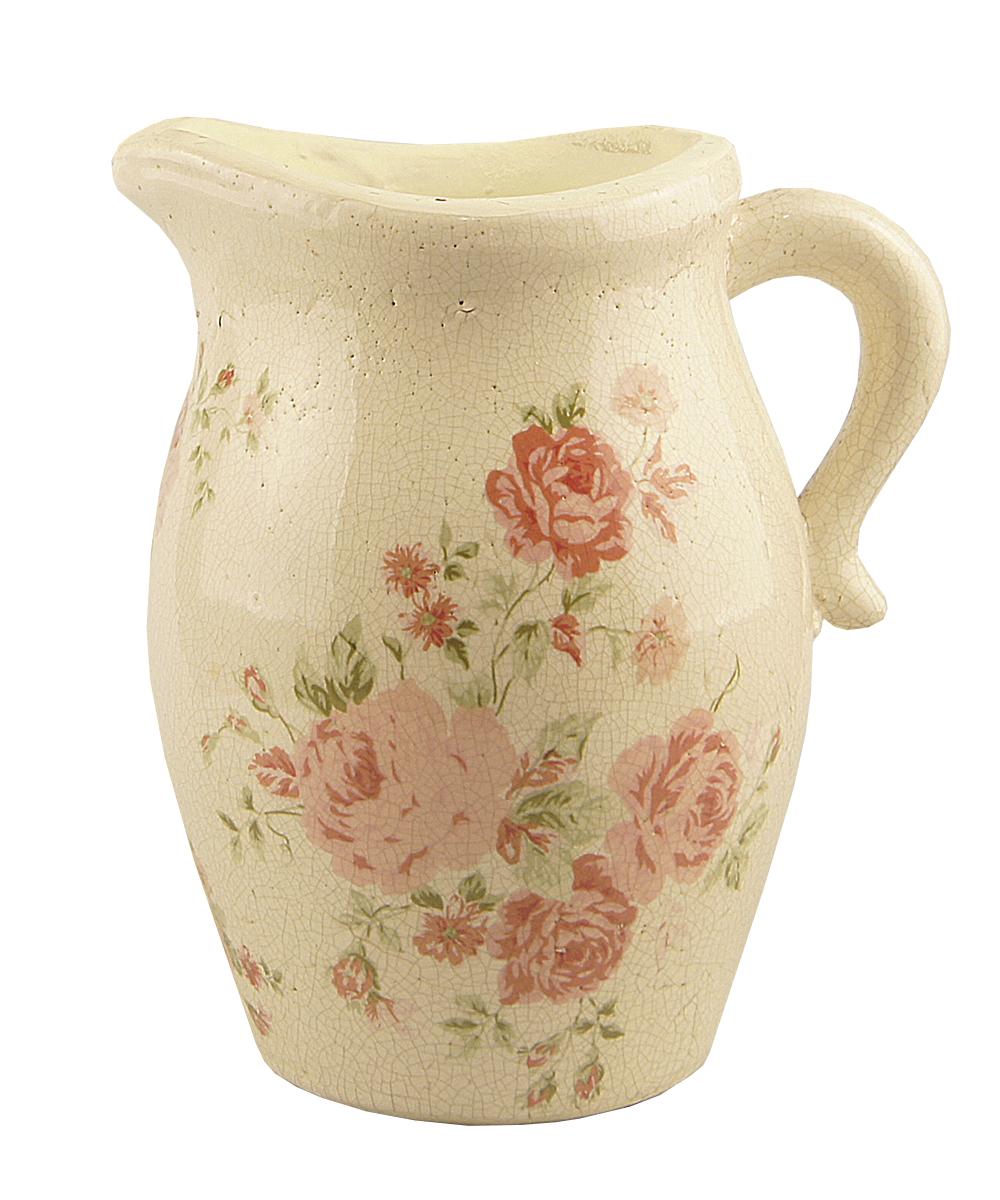 Ваза-кувшин Этажерка Rose, с ручкой, высота 23 смFF-02508Ваза-кувшин Этажерка Rose выполнена из высококачественной керамики и имеет изысканный внешний вид. Изделие оснащено удобной ручкой. Ваза-кувшин Этажерка Athens станет идеальным украшением интерьера и прекрасным подарком к любому случаю. Высота вазы: 23 см.